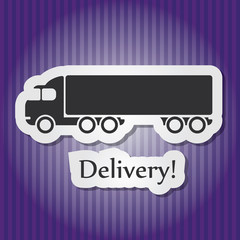 Paper-style colored vector illustration of vintage heavy deliver
