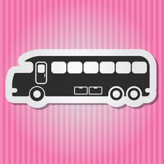Paper-style vector vintage illustration of Tourist bus