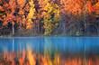Leinwanddruck Bild - autumn reflections