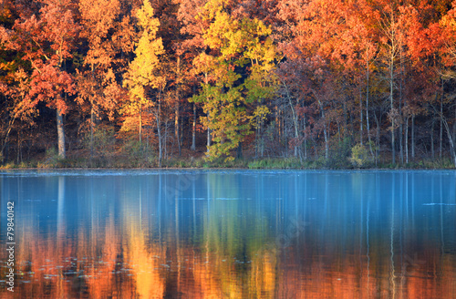Plexiglas Meer autumn reflections