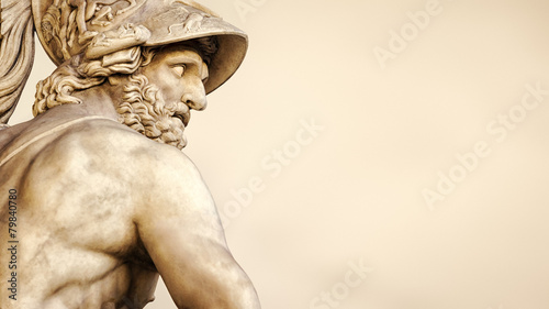 Foto op Canvas Standbeeld Menelaus supporting the body of Patroclus