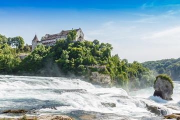 Rheinfall, Waterfall of the river Rhein at Neuhausen, Schaffhaus