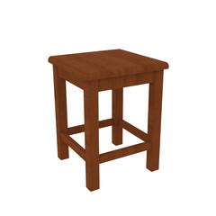 Old stool wooden