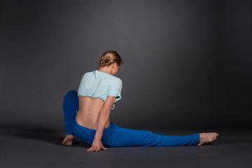beautiful woman stretching