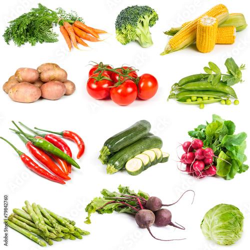 Poster Set of fresh vegetables