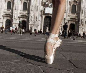 Dancer shoes in the city
