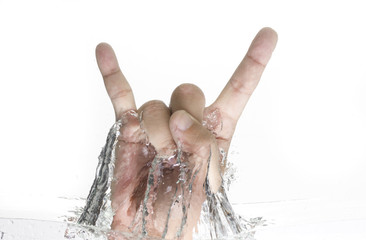 I Love You Hand Sign from the Water
