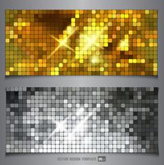 Metallic texture. Vector banner.