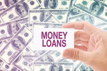 Money Loan in Dollar Banknotes