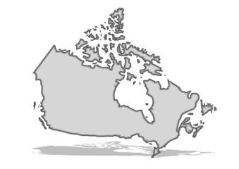 gri renkli kanda haritası