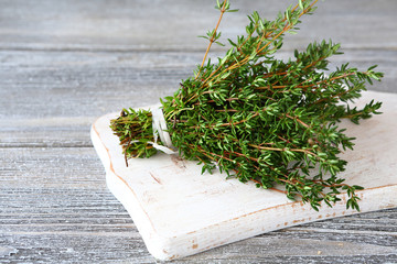 Bunch of fragrant thyme