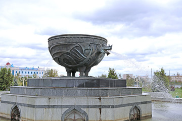 Fountain in the form of figure of Zilant in Kazan