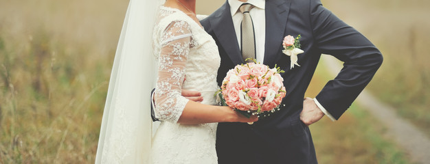 Wedding picture of newlyeds.