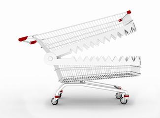 Shopping cart trap