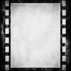 blank old grunge film strip frame background
