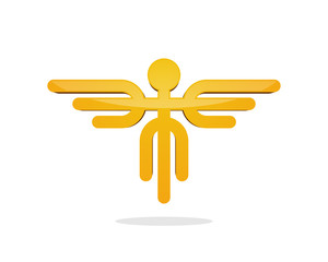 Flying Man Symbol