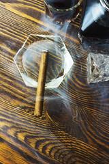 Cigar smoke and alcohol