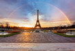 Rainbow over Eiffel tower, Paris - 79847717