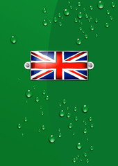 Enamel British Union Jack Flag - Background