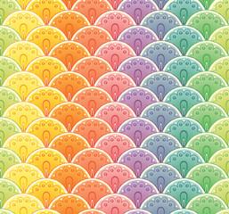 Fan rainbow seamless pattern