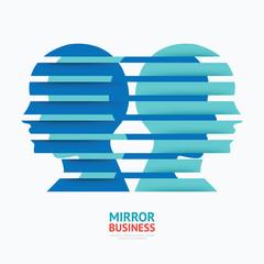 business design mirror concept vector illustration / graphic or