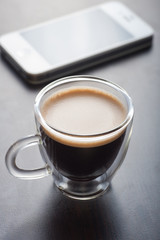 Espresso and smart phone