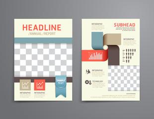 Vector brochure, flyer, magazine cover booklet poster design
