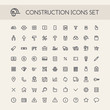 Set of Round Line Construction Icons - 79850730