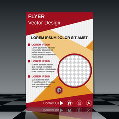Business flyer vector template