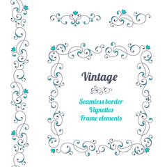 Vintage decorative elements. EPS8.