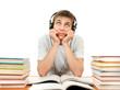 Bored Student in Headphones