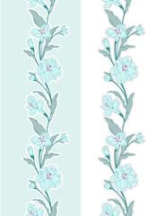 Seamless floral border