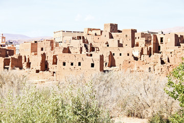 The fortified town of Ait ben Haddou near Ouarzazate Morocco on