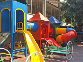 Children Playground in Thailand School Background Texture