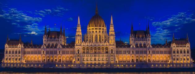 Budapest Parliament building, night panorama, Hungary © cristianbalate