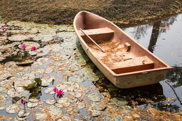Boot im Seerosen-Teich