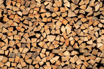 Holzstapel, Brennholz, Hintergrund