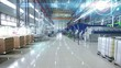 Modern plant at an industrial factory with motion graphics 01