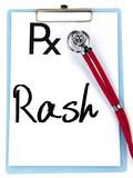 rash word write on prescription poster