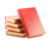 red books isolated on white background