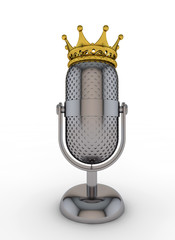 Microphone wearing a crown
