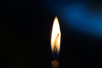 candle in darkness