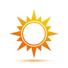 Vector Illustration of a Sun Icon