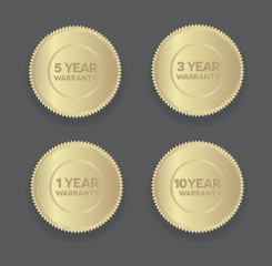 warranty golden badges