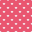 Tile cute vector pattern white hearts on pastel pink background