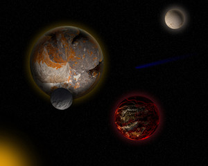 Alien planets.