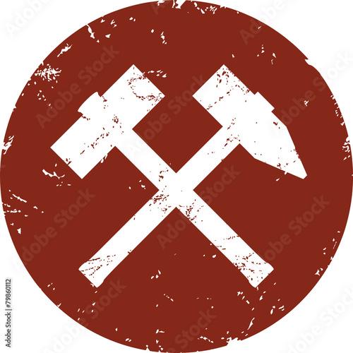 Button Schlägel und Eisen zerkratzt - 79860112