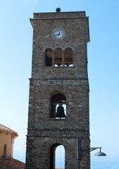 Bell tower cathedral Castellabate village