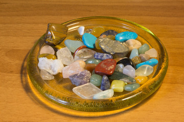 different minerals and gems