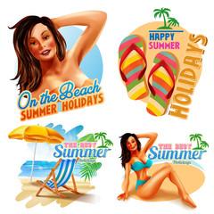 label summer for holidays